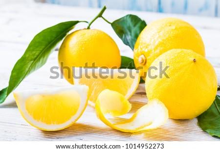 Fresh bergamot citrus fruits from Reggio Calabria Italy. #1014952273