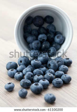 fresh bilberry in white bowl