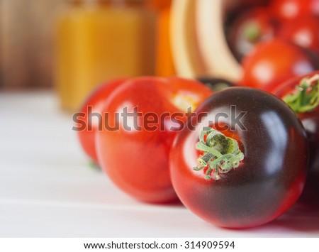 Fresh black tomatoes