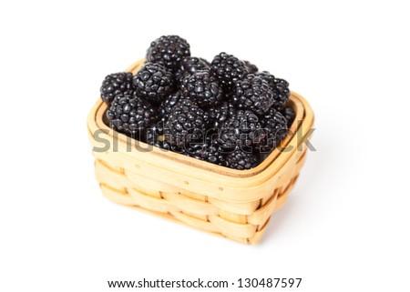 Fresh Blackberries in basket