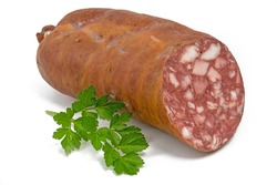 Fresh blood sausage from a home slaughter