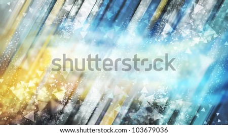 Fresh blue abstract background