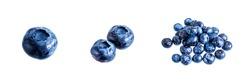 Fresh blue blueberry isolated on white