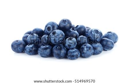 fresh blueberry fruits on white background #514969570