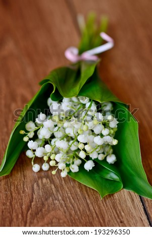 fresh bouquet of lily of the valley