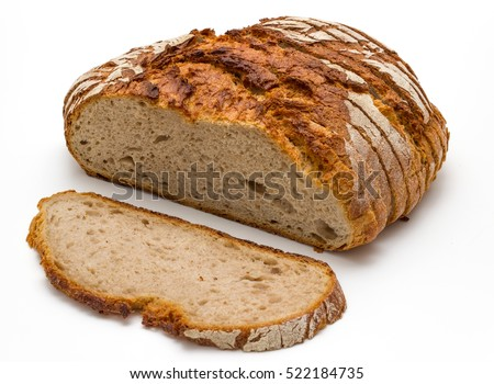 fresh bread isolated #522184735