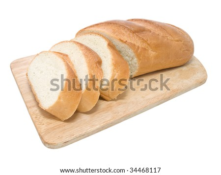 Fresh bread on cutting board