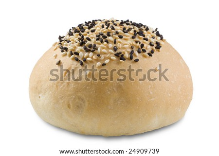 Fresh bread roll with sesame
