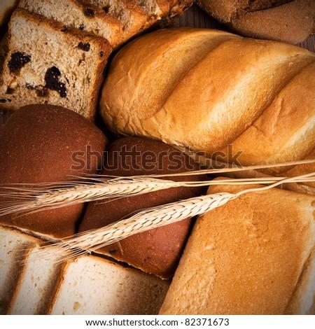 Fresh bread still life