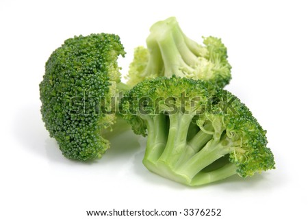 Fresh broccoli in isolated white background