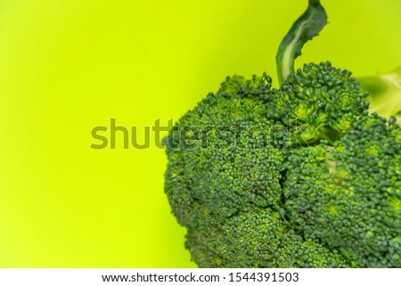 Fresh broccoli isolated on an isolated background