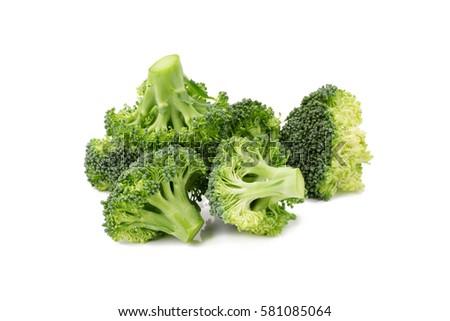 Fresh broccoli isolated on white background #581085064