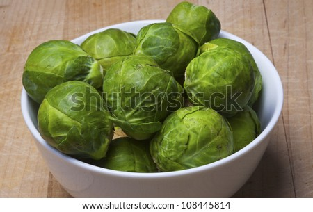 Fresh Brussels sprouts.