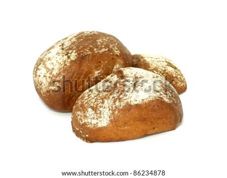 fresh buns isolated on white background #86234878