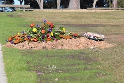 Fresh burial plot in a grave yard