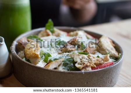 Fresh caesar salad #1365541181