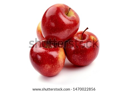 Fresh Cameo apples, isolated on white background. #1470022856