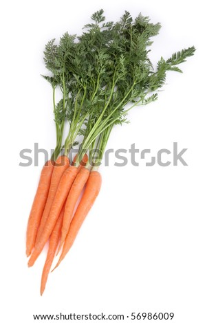 Fresh carrot in front of white background - stock photo