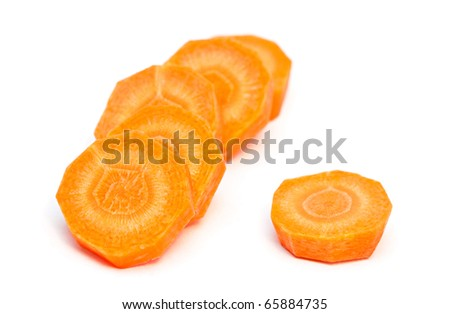 Fresh carrot isolated on a white background. - stock photo