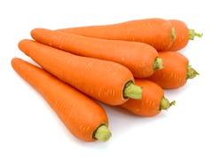Fresh Carrot isolated on white background