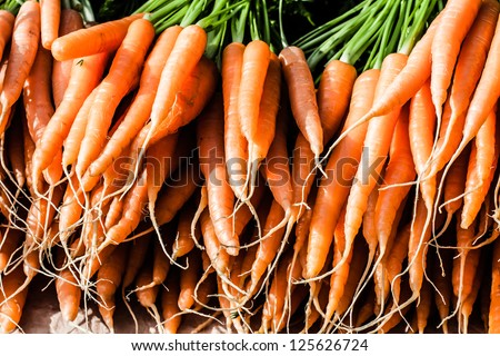 Fresh Carrots At The Local Market