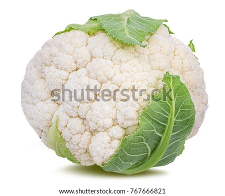 Fresh cauliflower isolated on white background with clipping path Foto stock ©