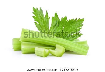 fresh celery isolated on white background Stockfoto ©