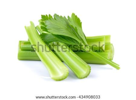fresh celery on white background Photo stock ©