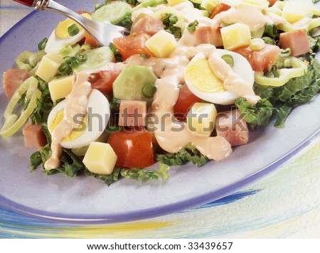 Fresh chef's salad.