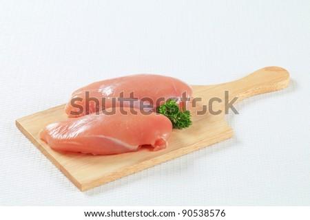 Fresh chicken breast  fillets - stock photo