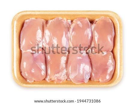 Fresh Chicken Thigh Fillet - Foam Tray Pack Foto stock ©