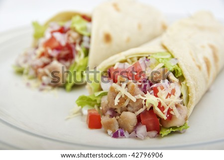 fresh chicken wraps