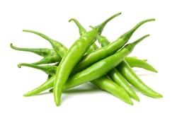 fresh chili on white background