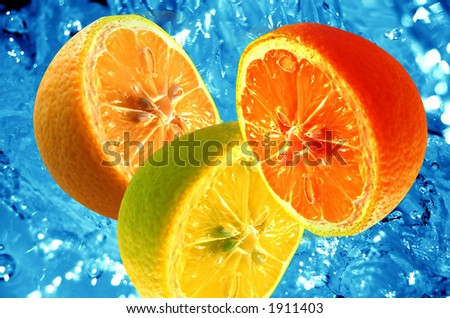 Fresh citrus background