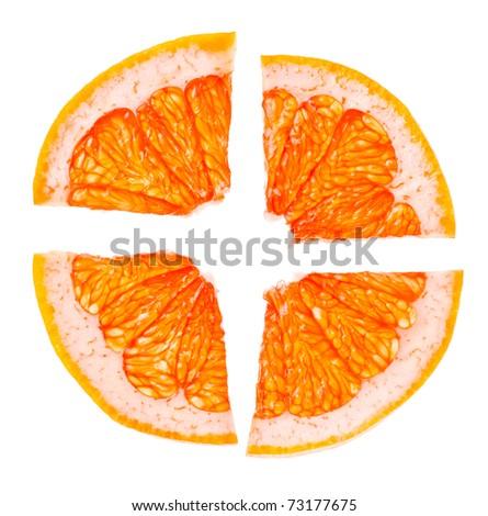 fresh citrus slices isolated on white background