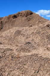 Fresh Clean Topsoil Dirt Hill for Organic Gardening and Landscaping