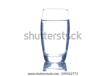 Fresh Clear Water in a glass against a background