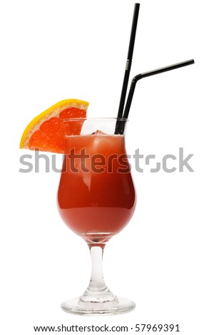 Fresh cocktail with grapefruit