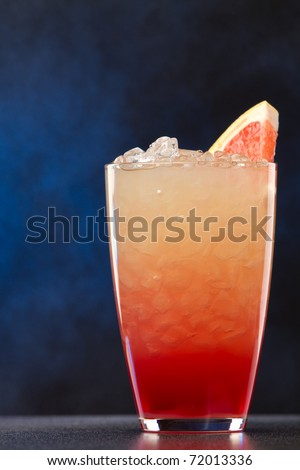 Fresh cocktail with grapefruits