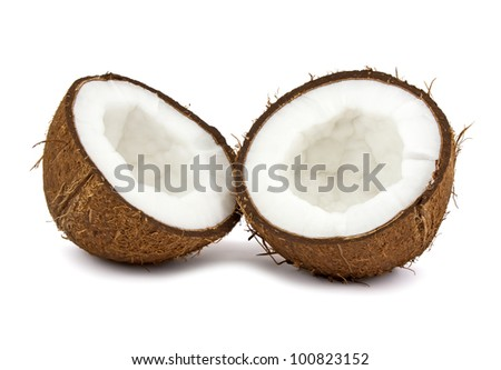 Fresh coconut isolated on white background