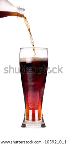 Fresh coke isolated on a white background