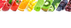 Fresh color fruits and vegetables. Healthy food