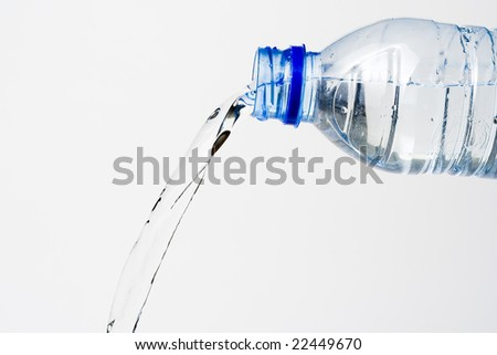 fresh cool  water isolated over white background