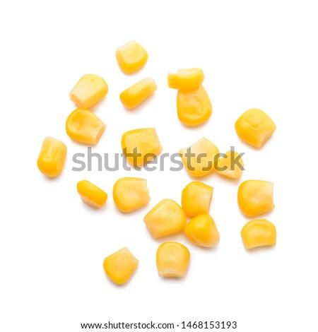 Fresh corn kernels on white background Сток-фото ©