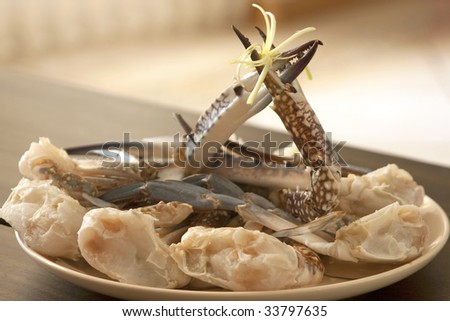 Fresh crabs on a plate