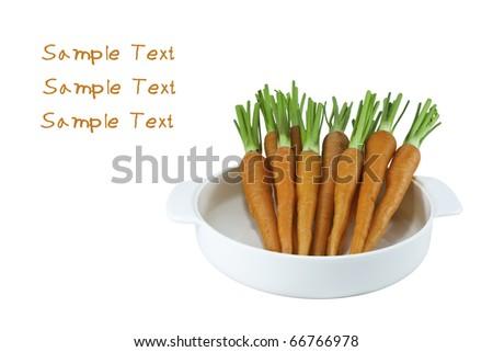 fresh crispy carrots  on white