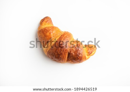 Fresh croissant on a white background Сток-фото ©