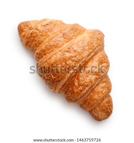 Fresh croissants isolated on white background Сток-фото ©