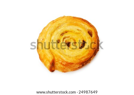 Fresh danish pastry isolated on the white background