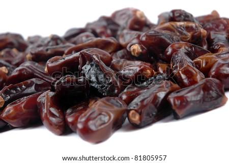 fresh dates fruit isolated on white background